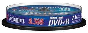VERBATIM 43666 DVD+R DL 10spindle 8x media (double layer) 8.5GB - AGEMcz