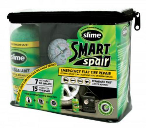 SLIME Smart Spair poloautomatická opravná sada na pneumatiky (opravná hmota+12V kompresor)