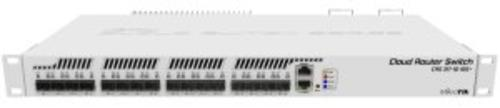 MIKROTIK Cloud Router Switch CRS317-1G-16S+RM, 800MHz CPU, 1GB, 1xGLAN, 16xSFP+cage, ROS L5, Dual PSU,1U Rackmount - AGEMcz