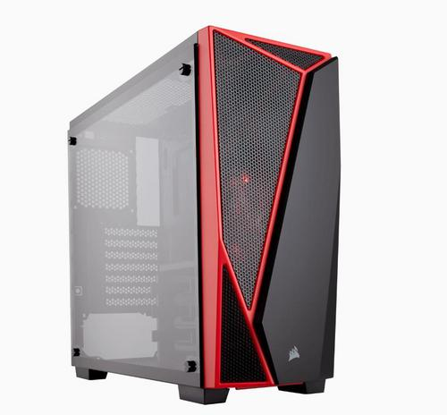 CORSAIR SPEC-04 Carbide Series černá+červená Tempered Glass Midi-Tower ATX PC Case, USB2+USB3 - AGEMcz