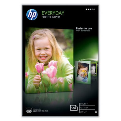 HP (CR757A) Photo Paper Glossy Everyday 10x15cm, 100ks, 200 g/m2 - AGEMcz
