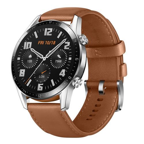 HUAWEI WATCH GT 2 Brown Leather Strap - AGEMcz