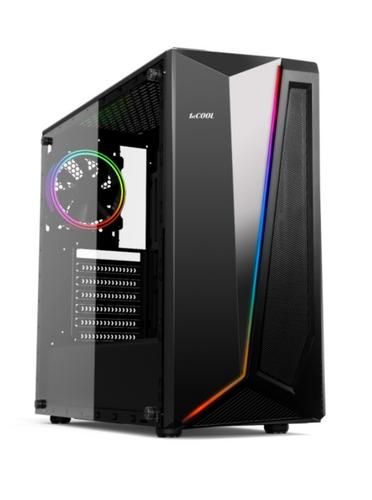 1stCOOL Middle Tower RAINBOW 2 EVO ARGB Strip + Fan, ATX black černý, bez zdroje, fulltower ATX (2xUSB2+ 1xUSB3+ Audio+ Transparentní bočnice) - AGEMcz