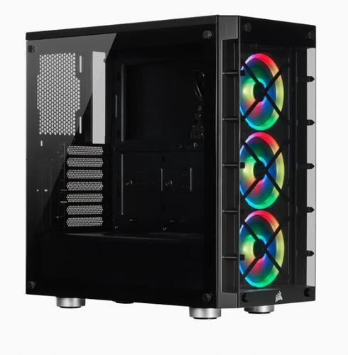 CORSAIR Crystal Series 465X Tempered Glass BLACK Compact ATX Mid-Tower Case černý ATX PC Case bez zdroje - AGEMcz